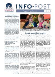Löwenherz-Infopost Ausgabe 71, Dezember 2017