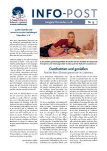 Löwenherz-Infopost Ausgabe 75, Dezember 2018