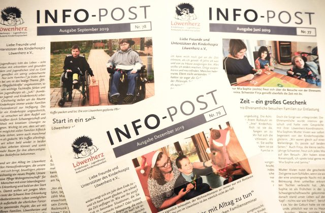 Die Löwenherz-Infopost erscheint vier Mal im Jahr.